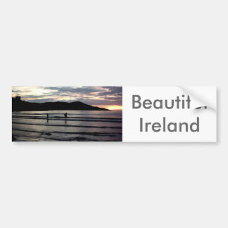 日没、Narinの繊維、郡ドニゴール、アイルランド バンパーステッカー