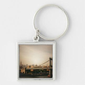 日没、NYCのマンハッタン橋 キーホルダー