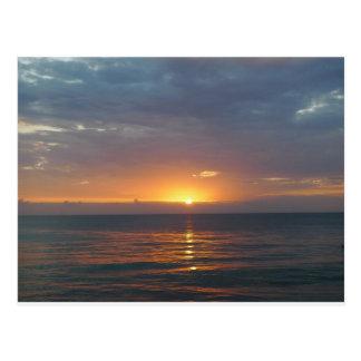 日没、Rincon、プエルトリコ ポストカード