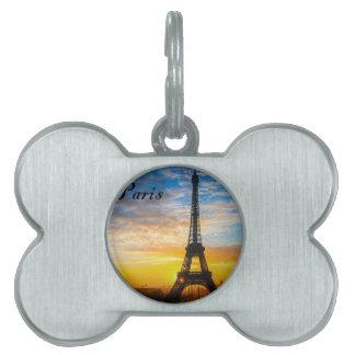 日没(St.K)のパリ旅行エッフェル ペットネームタグ