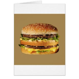 日焼けのハンバーガー カード