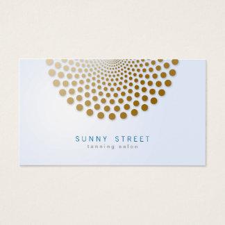 日焼けサロンの名刺の円はモチーフに点を打ちます 名刺