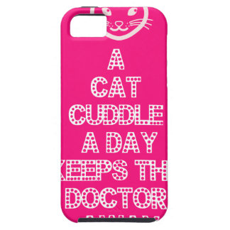 日猫の抱擁は博士を保ちますAway iPhone SE/5/5s ケース