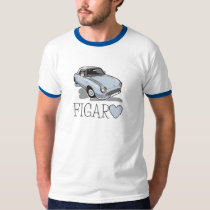 日産・フィガロの淡い色のな水 Tシャツ