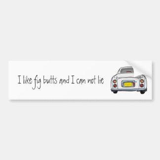 日産・フィガロの白いバンパーステッカー バンパーステッカー