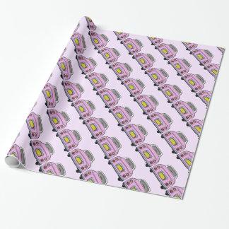 日産・フィガロピンクの車の包装紙 ラッピングペーパー