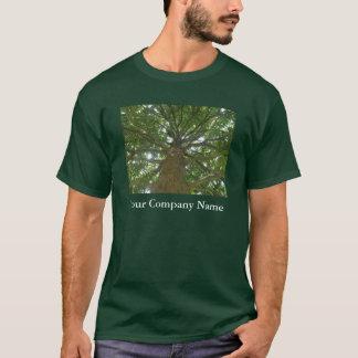 日除けの木: あなたの会社名のTシャツ Tシャツ
