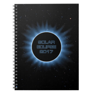 日食の2017年のノート ノートブック