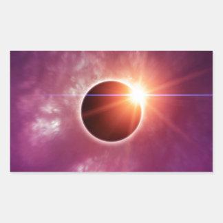 日食 長方形シール