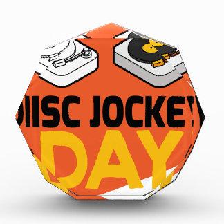 日1月20日-ディスクジョッキー 表彰盾