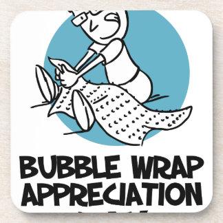 日1月30日-気泡緩衝材の感謝 コースター