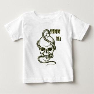 日2月1日-蛇-感謝日 ベビーTシャツ
