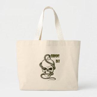 日2月1日-蛇-感謝日 ラージトートバッグ