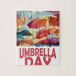 日2月10日-傘-感謝日 ジグソーパズル