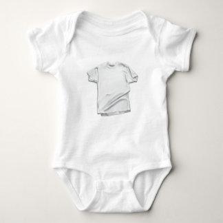 日2月11日-白いワイシャツ ベビーボディスーツ