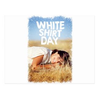 日2月11日-白いワイシャツ ポストカード