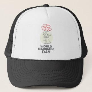 日2月12日-世界の結婚 キャップ