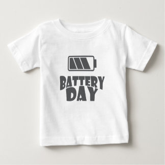 日2月18日-電池-感謝日 ベビーTシャツ