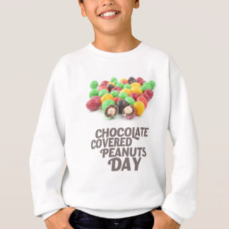 日2月25日-チョコレートピーナツ スウェットシャツ