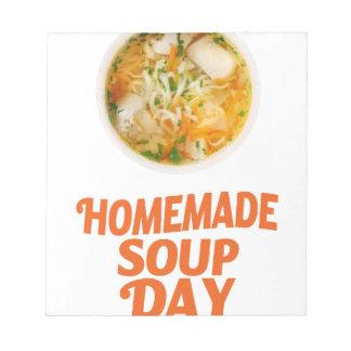 日2月4日-手製スープ ノートパッド
