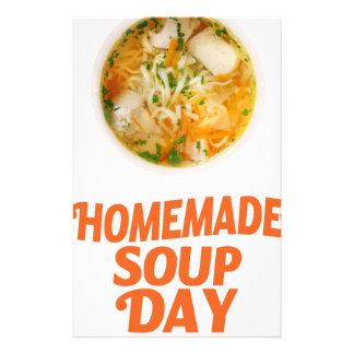 日2月4日-手製スープ 便箋