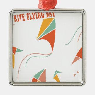 日2月8日-凧の飛んでいるな-感謝日 メタルオーナメント