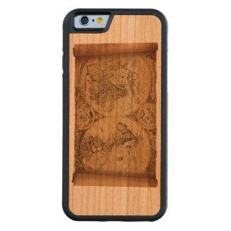 旧世界のさくらんぼ木箱 CarvedチェリーiPhone 6バンパーケース