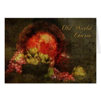 旧世界のチャームの挨拶状 カード