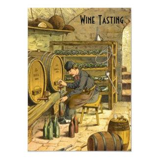 旧世界のワインの試飲のパーティの招待状は発表します カード