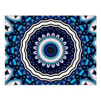 旧世界のヴィンテージのモロッコの影響を及ぼされたタイルのデザイン ポストカード