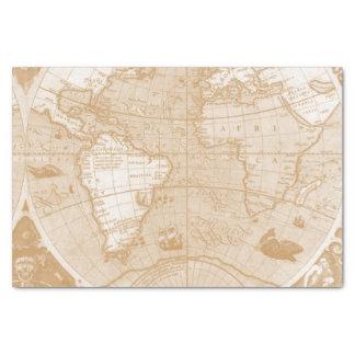 旧世界の地図のティッシュペーパー 薄葉紙