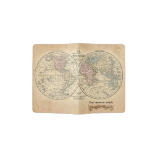 旧世界の地図のパスポートカバー パスポートカバー