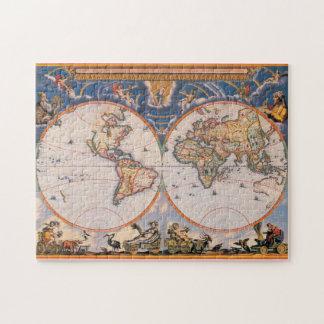 旧世界の地図のパズル#1 ジグソーパズル