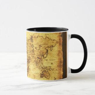 旧世界の地図のマグ マグカップ