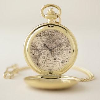 旧世界の地図 ポケットウォッチ