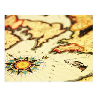 旧世界の地図 ポストカード