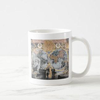 旧世界の地図-海に コーヒーマグカップ