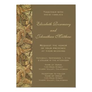 旧式でビクトリアンで暖かい紅葉の結婚 カード