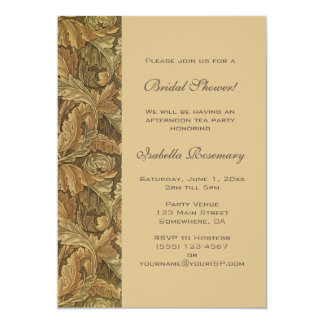 旧式でビクトリアンな紅葉のブライダルシャワー カード