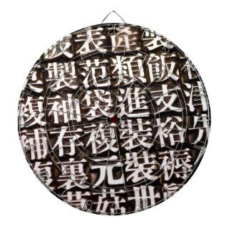 旧式で中国のな凸版印刷のタイプ ダーツボード