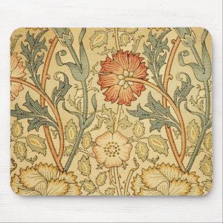 旧式で古い花柄 マウスパッド