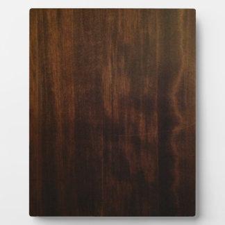 旧式で暗い木製のデザイン フォトプラーク
