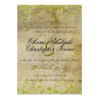 旧式で自然な招待 カード