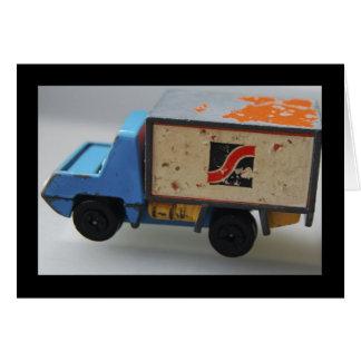 旧式なおもちゃのトラック カード