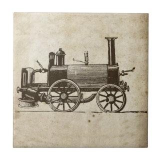 旧式なおもちゃの蒸気の列車 タイル