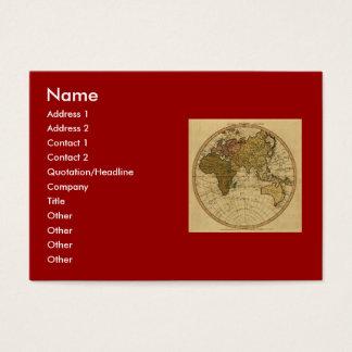 旧式なウィリアムFaden 1786の東半球の地図 チャビ―名刺