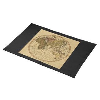 旧式なウィリアムFaden 1786の東半球の地図 ランチョンマット