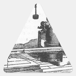 旧式なエンジニアリング用具のヴィンテージの短命なもの 三角形シール