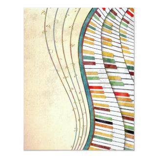 旧式なクールで素晴らしい波状のピアノレトロ色 カード