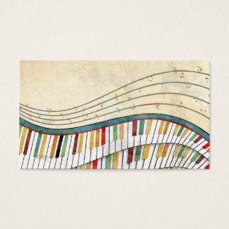 旧式なクールで素晴らしい波状のピアノレトロ色 名刺